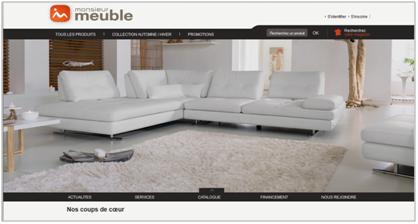 reach the first monsieur meuble habille son nouveau site. Black Bedroom Furniture Sets. Home Design Ideas